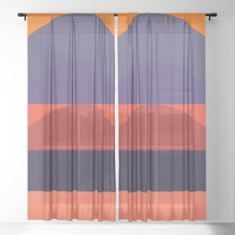 Spring- Pantone Warm color 05 Sheer Curtain