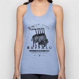 BUFFALO FACTORY Buffalo with smokestacks Unisex Tank Top