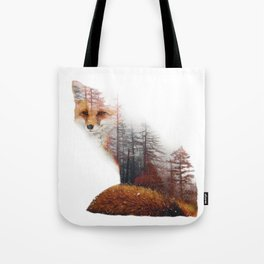 Misty Fox Tote Bag