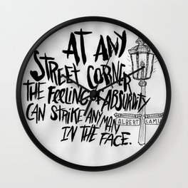 ALBERT CAMUS ROCKJAM Wall Clock