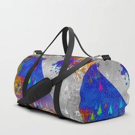 Abstract Colorful Rain Drops Design Duffle Bag