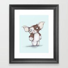 Gizmo Plushie Framed Art Print