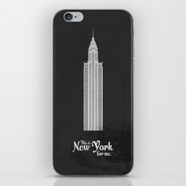 "This is New York for me. ""Chrysler"" iPhone Skin"