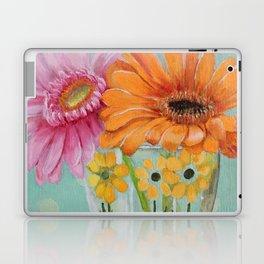 Gerber Daisy Retro Glass Painting Laptop & iPad Skin