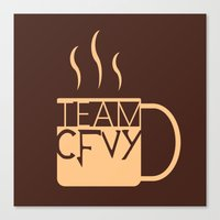 roosterteeth Canvas Prints featuring Team CFVY by Eamonn