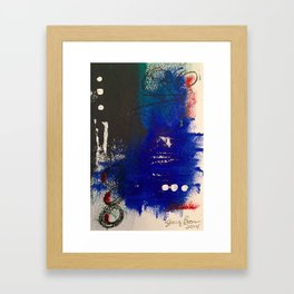 Blue is the New Black original painting by Stacey Brown Framed Art Print