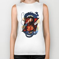 dbz Biker Tanks featuring DBZ - Goku by Mr. Stonebanks