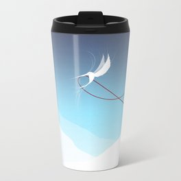 Hummingbird and a red thread Travel Mug