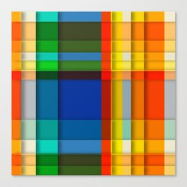 rectangle layers Canvas Print