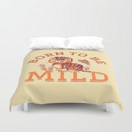 Born to be Mild (Orange Tabby) Duvet Cover