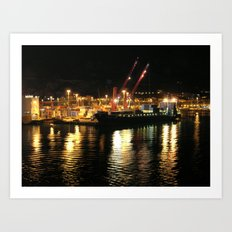 Salerno harbour Art Print