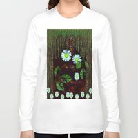 decorative Long Sleeve T-shirts featuring Gargoyle decorative by Pepita Selles