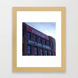 Coca-cola building Framed Art Print