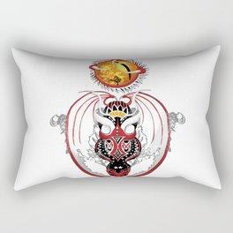 Cosmic Smoking Bloodshot Dragon Rectangular Pillow