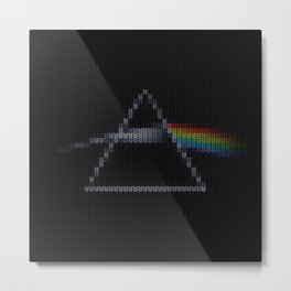The Dark Side of The Ugly Christmas Sweater (Cool Dark Side of the Moon Music Parody) Metal Print