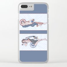 Steve and Bucky Pinups Clear iPhone Case
