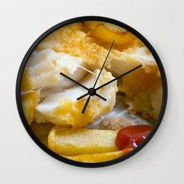 Cod Chips and Ketchup Wall Clock