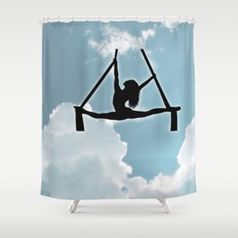 Aerialist in the Sky Shower Curtain