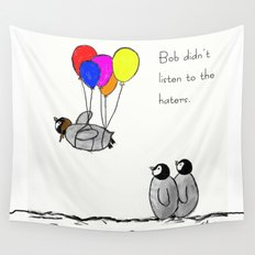 To be a Flying Penguin  Wall Tapestry