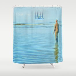 Time Passing Shower Curtain