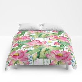 lotus flowers Comforters
