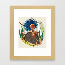 Caipora DIVA Framed Art Print