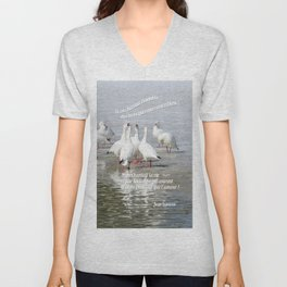 Les Oies Blanches : Si On Chantait - The White Geese : If We Sing Unisex V-Neck