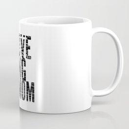 Love Being a Mom in Black Distressed Coffee Mug