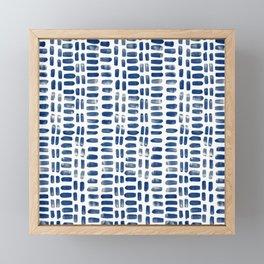 Abstract rectangles - indigo Framed Mini Art Print