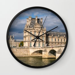 Pont Royal and Palais du Louvre - Paris Wall Clock