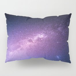 Purple Glitter Galaxy Pillow Sham