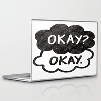 tfios Laptop & iPad Skins featuring OKAY?OKAY THE FAULT IN OUR STARS TFIOS HAZEL AUGUSTUS CLOUDS by monalisacried