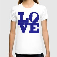 lacrosse T-shirts featuring Lacrosse Love Navy Blue by YouGotThat.com