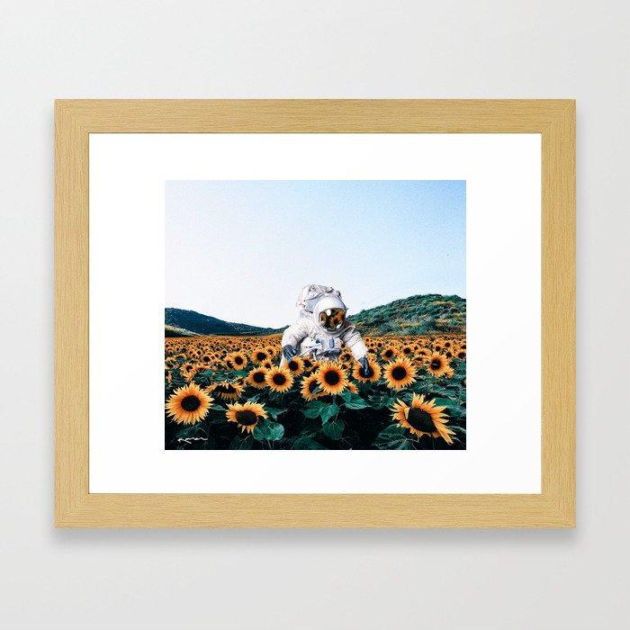 discovering you, discovering me. Framed Art Print
