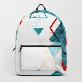 Minimalist Scandinavian Geometric Watercolor Art, Digital Download, Abstract Minimalism, Large Print Backpack