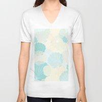 shells V-neck T-shirts featuring Shells by Karen Hischak