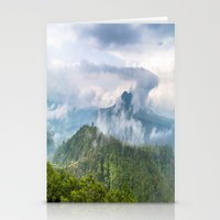 indonesia Stationery Cards featuring Mt Batur - Bali, Indonesia by Jennifer Stinson