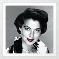 Ava Gardner Portrait #1 Art Print