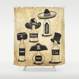 Drinking History Shower Curtain
