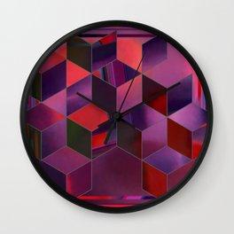 glitchy cubes Wall Clock