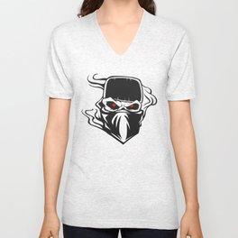 Skull bandana hat Outlaw Unisex V-Neck