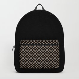 ARC beige arches on black repeating pattern Backpack