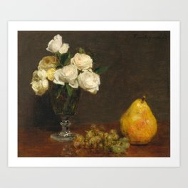 Henri Fantin-Latour - Still Life With Roses And Fruit Art Print