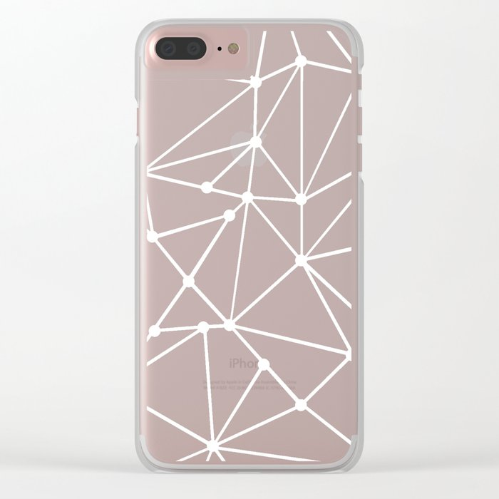 Ab Out Spots Grey Clear iPhone Case