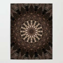 Bohemian Dark Brown Mandala Poster