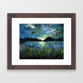 Twilight on a Transylvanian Lake Framed Art Print