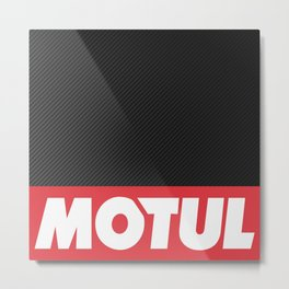 Motul Carbon design Metal Print
