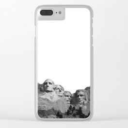 Mount Rushmore National Memorial South Dakota Presidents Faces Graphic Design Illustration Clear iPhone Case