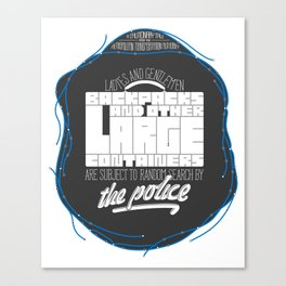 Random Search by the Police Canvas Print