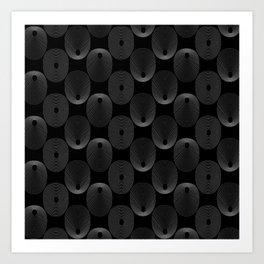 Grey Circles Art Print